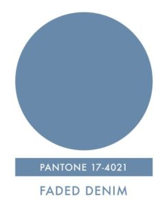 Pantone Color Faded Denim
